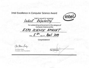 Luboš Zápotočný - Intel Excellence in Computer Science Award