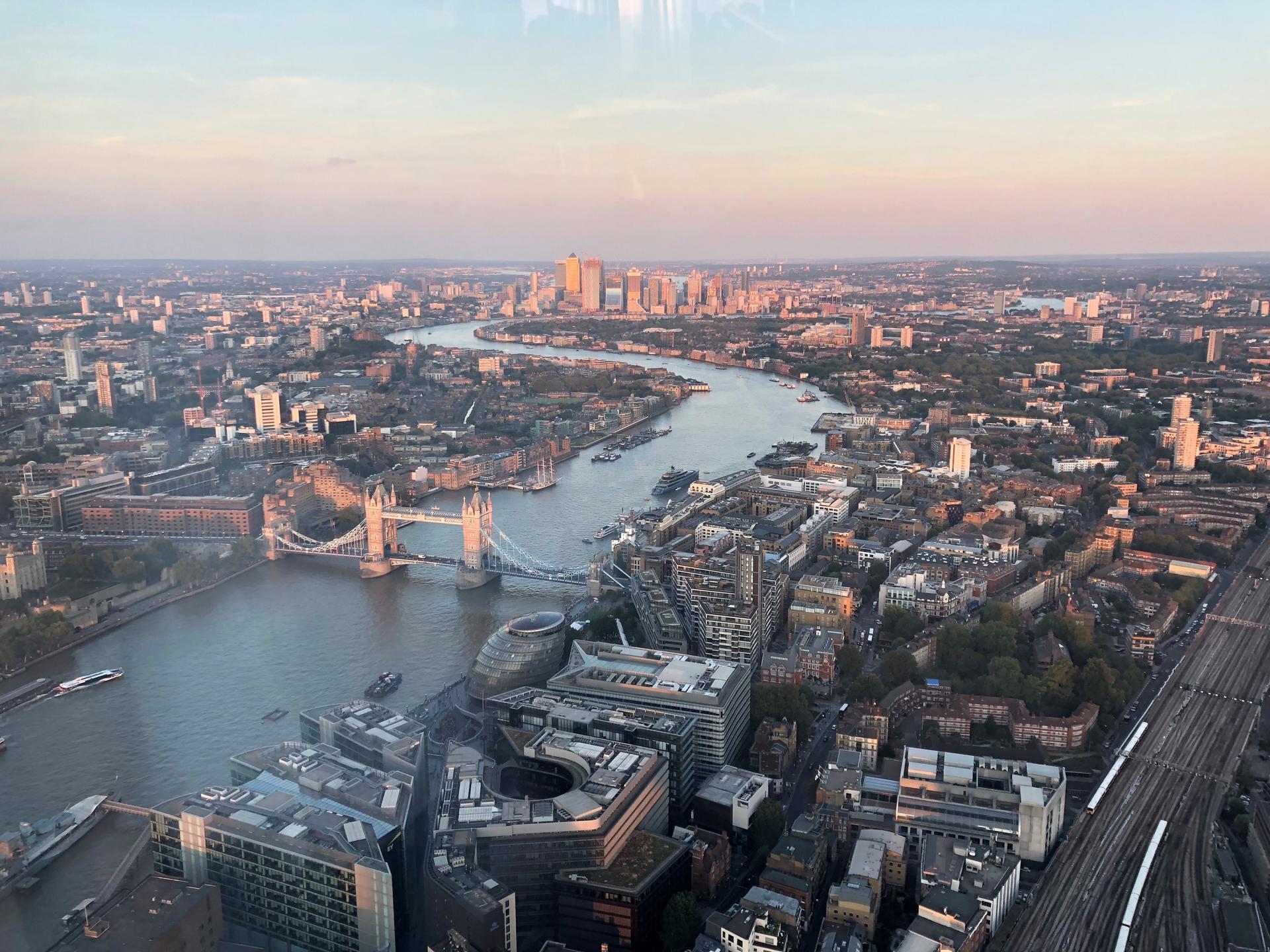 připojte místa v Londýně
